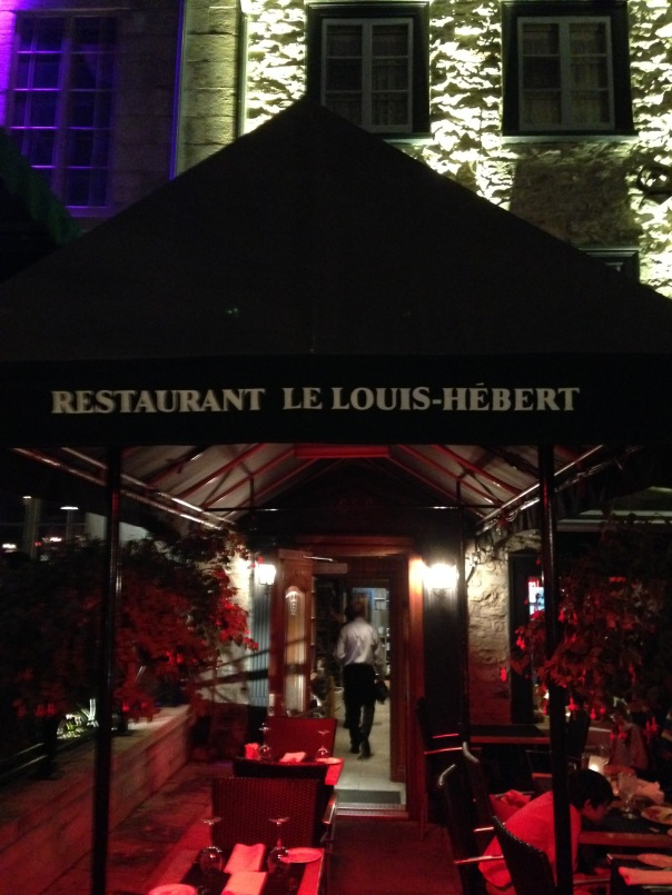 Louis Hebert Restaurant Quebec City 2015